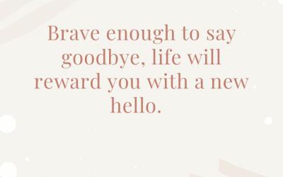 Afscheid nemen….